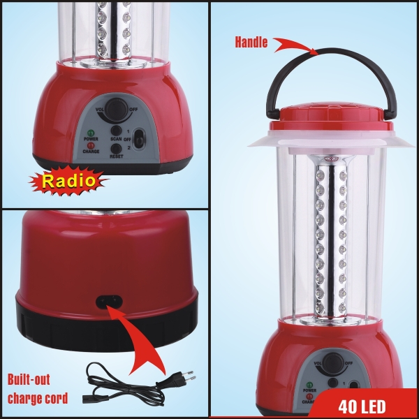 rechargeable lantern with radio
