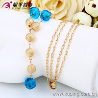 42426-Xuping Artificial Gold Long Pearl Necklace Imitation Jewelry