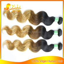 expression braids virgin hair extension weft brazilian body wave ombre colored high quality hair