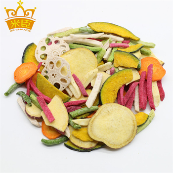 mixed vegetable and fruit chips snack foods healthy foods