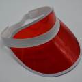 Factory direct sell red plastic sun visor with custom logo for 2018 summer promotional