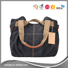 Womens Casual Vintage Canvas Material Handled Style Tote Bag