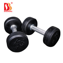 Commercial Free Weight Set Fixed Wholesale Round Rubber Dumbbell