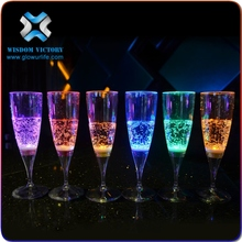 LED party drinking glass glow flashing Champagne Glass for Sale led champagne glass