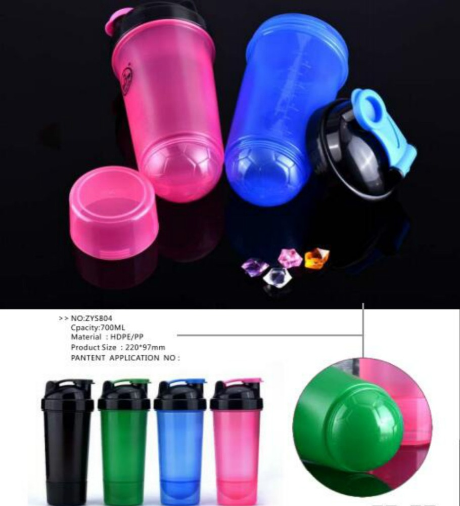 Fancy Design Dual Proteins Shaker With Storage Compartment,Christmas Gift Shaker Cup Supplier From China-600ml