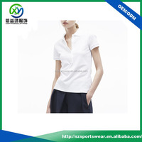 OEM custom hot selling ladies short sleeve soft 100 cotton polo t shirt plain white, golf polo shirts
