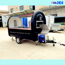 CP-C280165230 sales trailer food mobile commercial fast food van towable crepe kiosk for sale