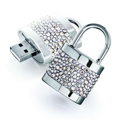 Real Capacity High quality promotional metal usb flash drive lock shape