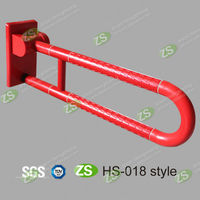 Folding Toilet Handrail/swing up grab bar/Toilet Grab Bar
