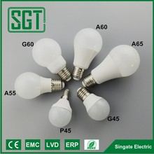 20W 16W 6W 3w P45 G45 A55 A60 A65 led lighting bulb
