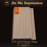 Water Proof Ecological WPC Wood Plastic Composite Decorative Bathroom Wall Panels