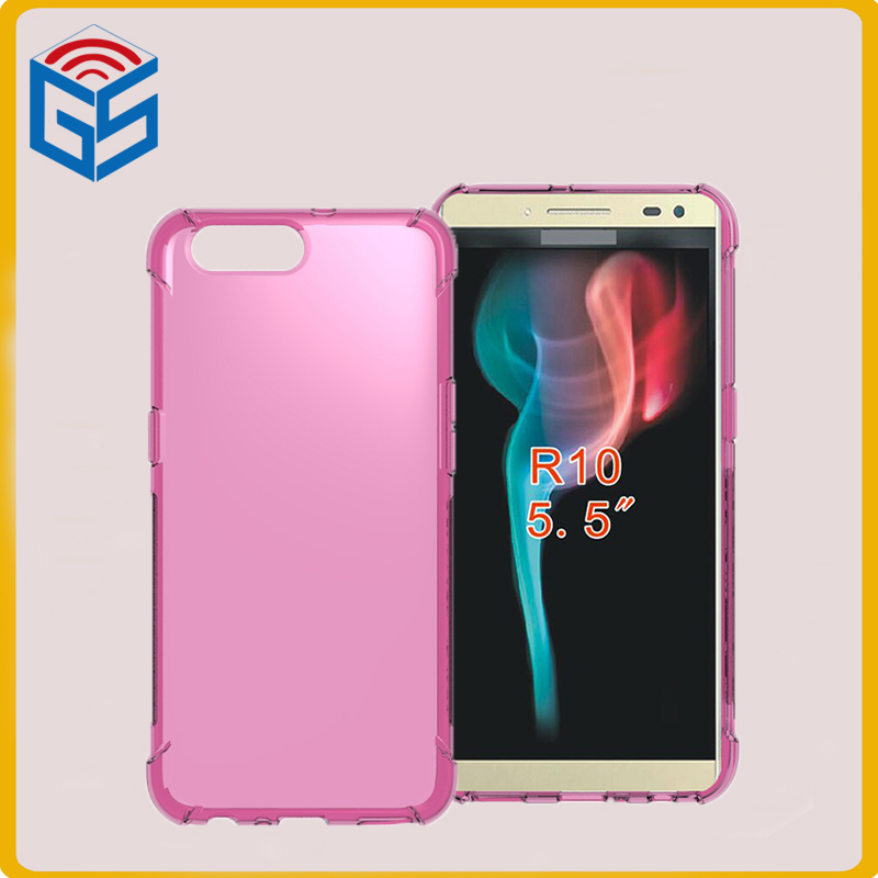 Flexible Shockproof Edge Full Clear Case For Oppo <strong>R10</strong> TPU Cover