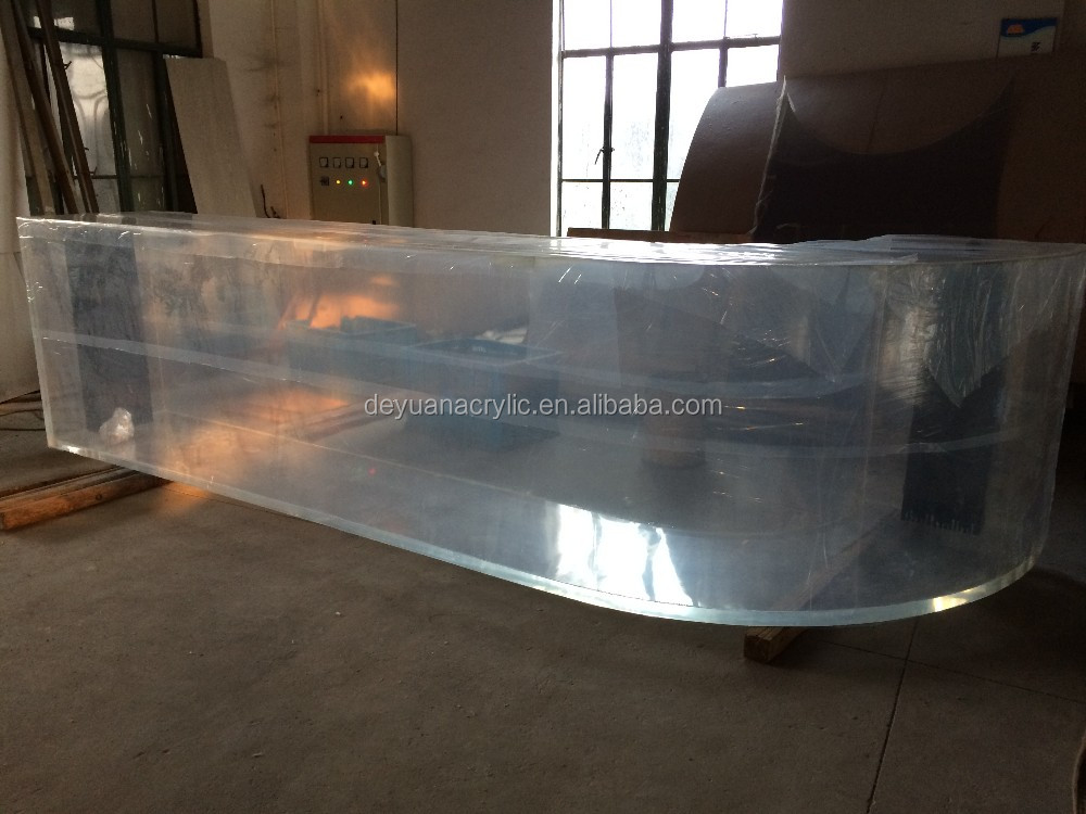 Large Acrylic Curved Aquarium Fish Tank Manufacturer