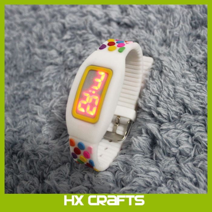 Candy Children Custom Touch Screen Sport Silicone LED Watch