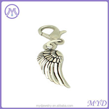custom silver angel wing charms wholesale for bracelet