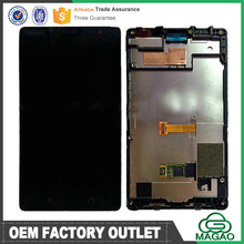 Original lcd screen for nokia x2 02 lcd display with digitizer assembly black+frame