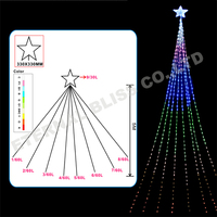 decorative icicles moving led light christmas lights led star curtain