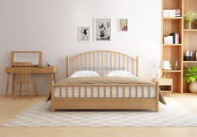 Polish style solid wood double bed