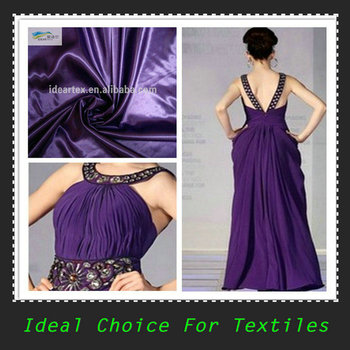 Bridal Dyed Polyester Shiny Satin for Lady Dress