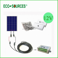 USA 100W 12V PV Poly Solar Panel Bundle Kit with 15A Controller for Caravan Home RV