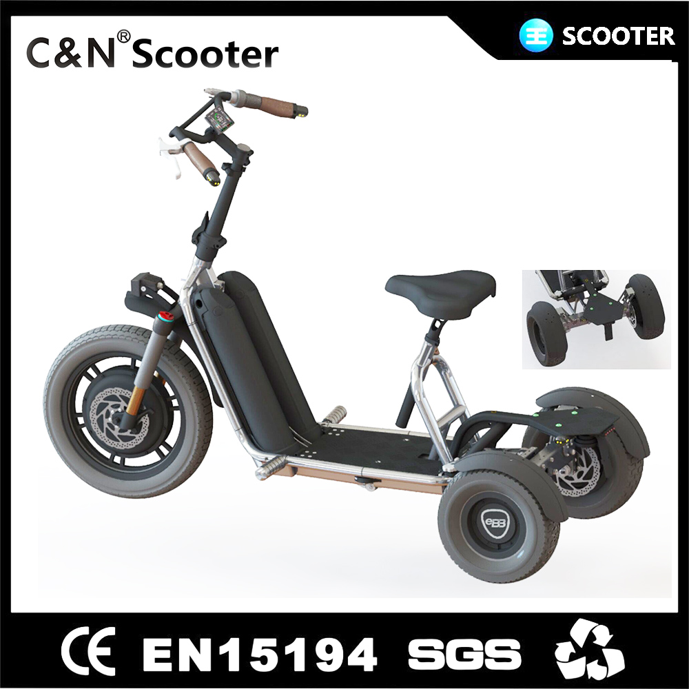 2017 New model adults three wheel electric tricycle motorcycle scooter
