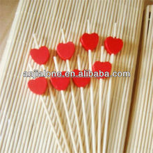WY-CC 075 hot sale heart-shaped and natural bamboo skewers with certificates