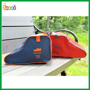 Encai Factory Fashion Travel Organizer Tote Shoes Bag/Colourful Waterproof Folding Shoes Pouch With Handle/Shoes Storage bag