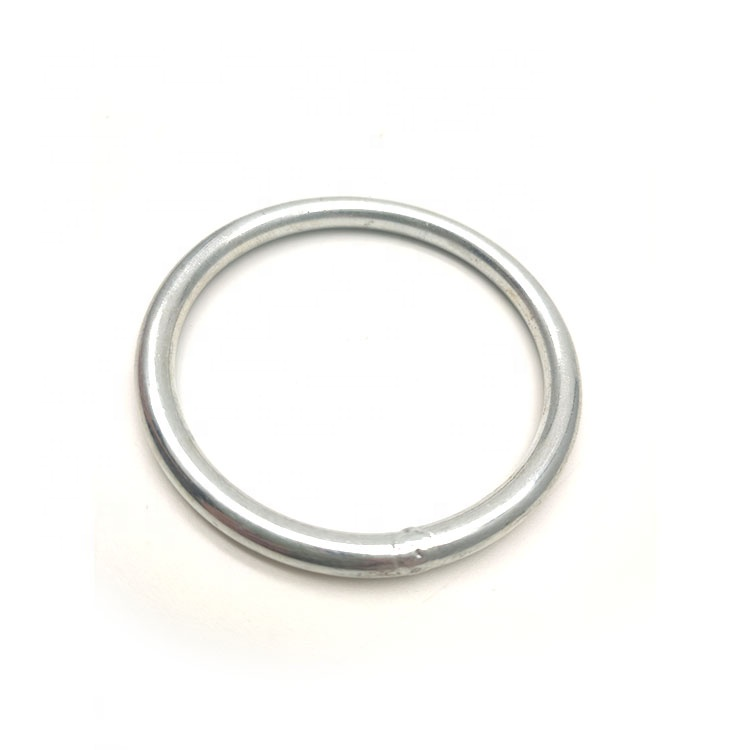Wholesale 5*50mm welded round ring snap hook cheap stainless steel rings made in china rigging <strong>hardware</strong>
