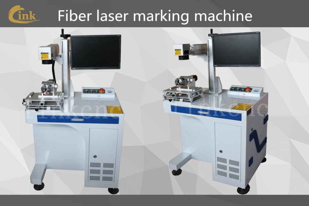 Cheap 20w 30w 50w fiber laser marking machine/for Carbon steel stainless electronic component buttons /laser marking