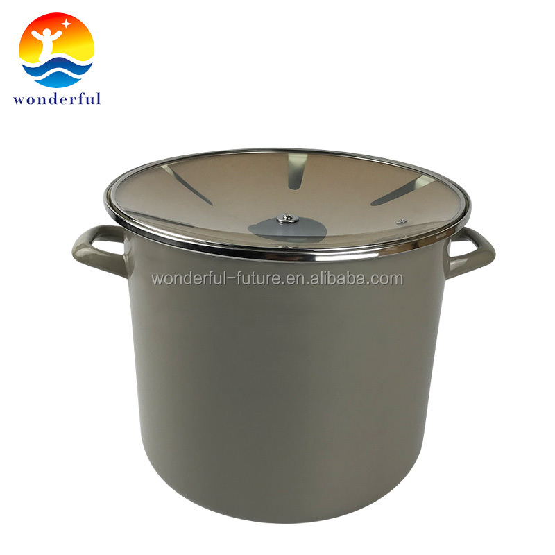 Quality Guaranteed Satin High-quality enamel Round Nonstick Stock Pot
