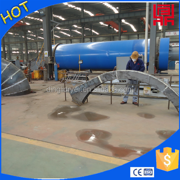 Wood cuttings drum drying line/sawdust rotary dryer on sale in china