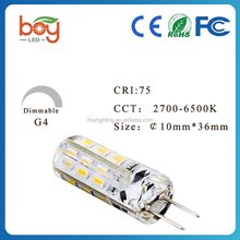 1.5W 12V DC LED G4 Light Bulbs, 360 Degrees Beam Angle, Warm White