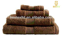 High quality Pure color 100% Terry Organic Cotton Bathroom towel