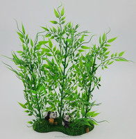 Aquarium artificial plastic plant with resin base for decorative the fish tank