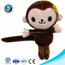 Wholesale plush monkey animal toy keychain cheap monkey plush toy cute promotional plush stuffed soft mini monkey