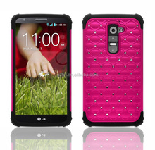 Defender rhinestone phone case for LG G2