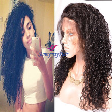 Sunnymay 2016 New Fashion Full Lace Wig Brazilian Virgin Hair Human Hair 300% Density Wig
