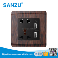 Philippines electrical 2 pin and 3 pin 220v usb wall outlet sockets