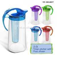 TT-2014037 2.3L tritan infusion jug pet water bottles