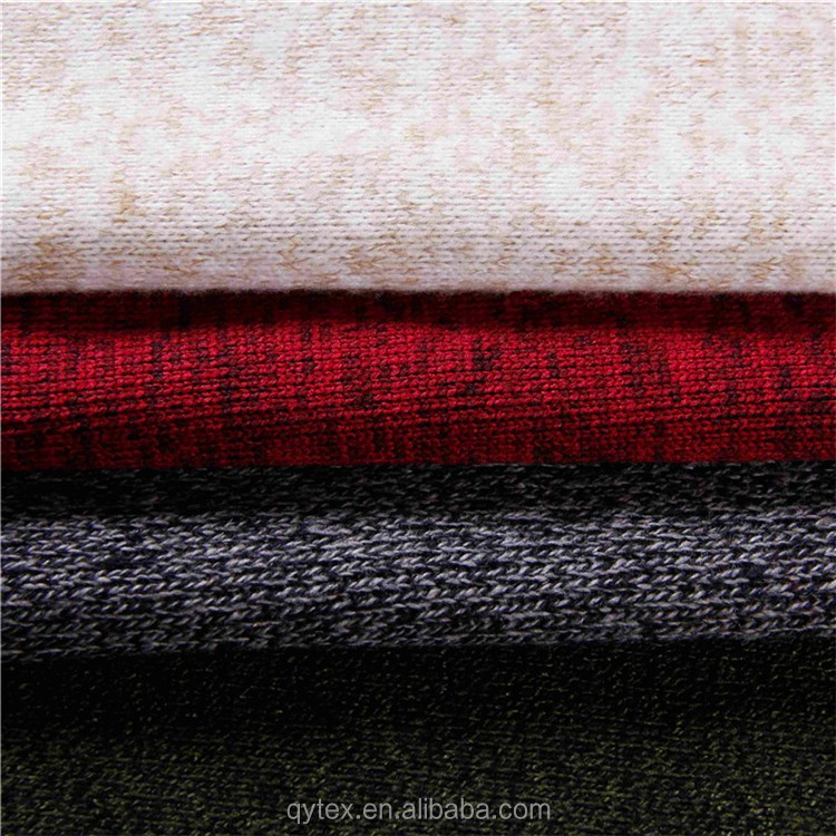 Wholesale 100%Polyester Loop Gage Knitted Hacci Napped Sweater Fleece Fabric for Coat and Sweater