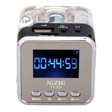 Mini Speaker Digital Portable Music MP3/4 Player Micro SD/TF USB Disk Speaker FM Radio LCD Display