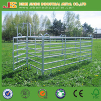 Galvanized Square Pipe Heavy Duty Alpaca Fence Panel / Goat Corral Steel Animal Fence /Sheep Farm Corral Panel Pens