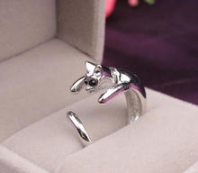 Handmade Fashion Jewelry Cute Animal <strong>Silver</strong> and gold Cat Open Finger Ring