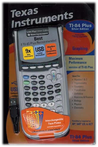 Ti-84 Plus Silver Edition Graphing Calculator