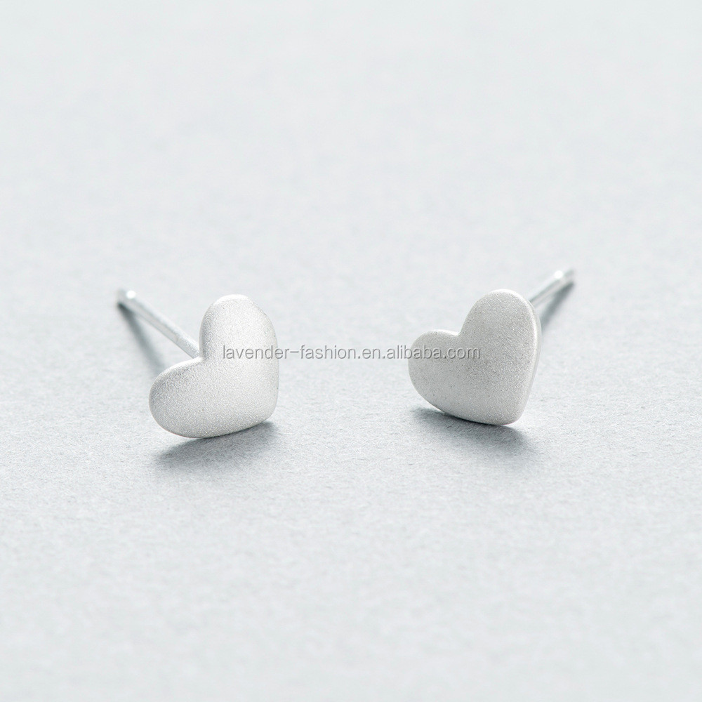 Yiwu factory direct sell S925 sterling silver heart shape earrings Anti allergy earrings