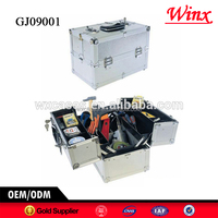 China hard case tool box , tool case with 4 plastic trays inside,different colors are available