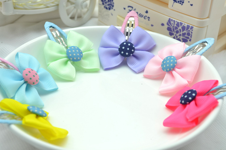 Korean Kids Hair Accessories Hairpins With Ribbons Butterfly Clip