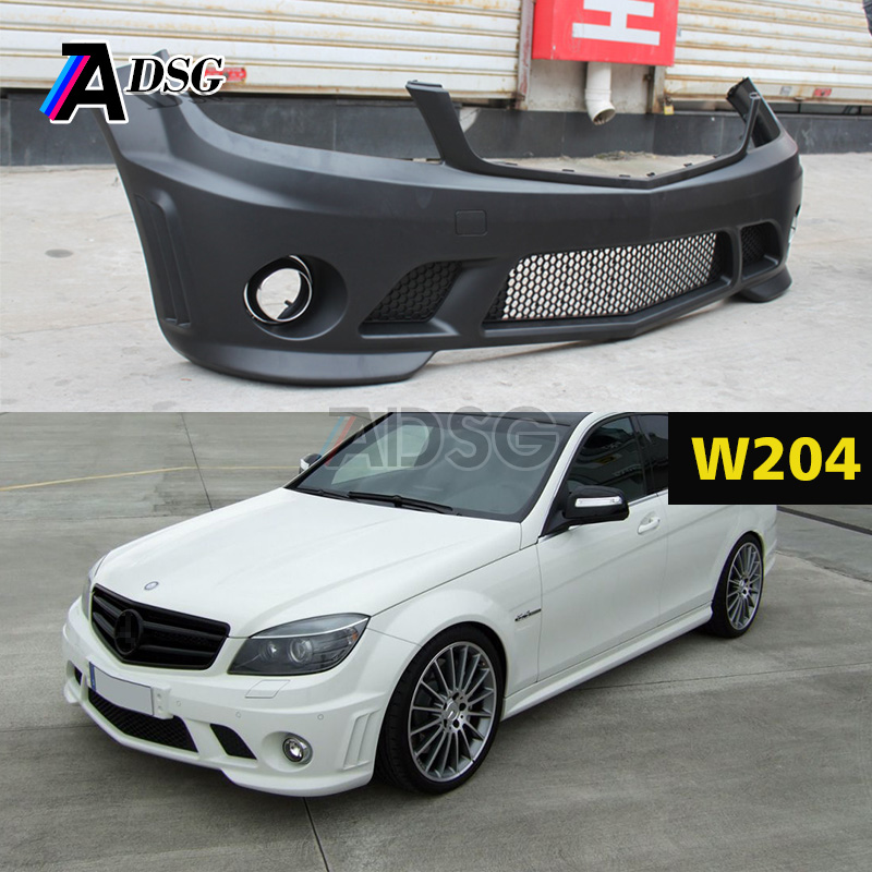 Mercedes Body kit for C class W204 Pre - facelift C63 look ABS bumper parts 2007 - 2011
