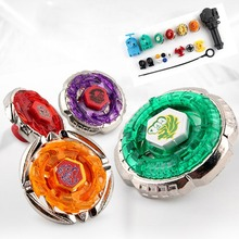 Set Metal Master Fusion Top Rapidity Fight Rare Beyblade 4D Launcher Grip