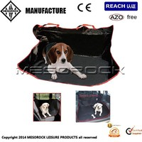 BLACK + RED 2in1 WATERPROOF CAR REAR BACK SEAT COVER PET PROTECTOR / BOOT LINER